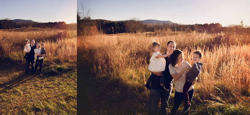 Sunset Storybook Family Sessions Greenville SC