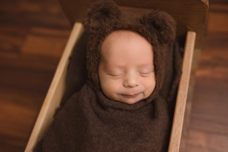Baby in a bear bonnet Greer SC