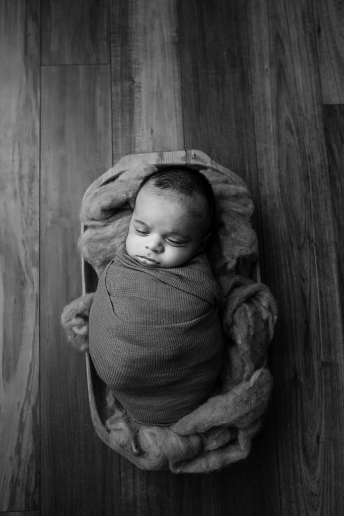 Sleeping Newborn Swaddled Older Baby Greer SC