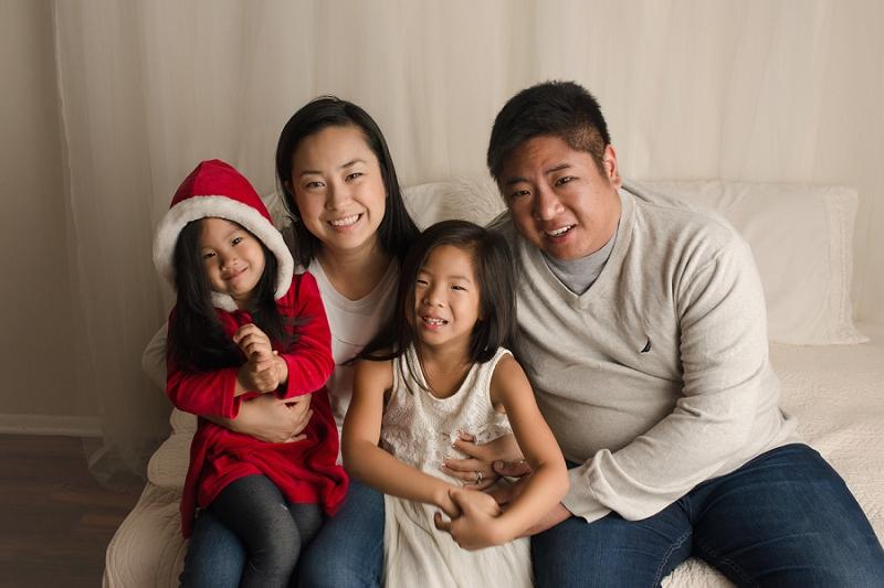 Family Studio Christmas Picture Greer SC