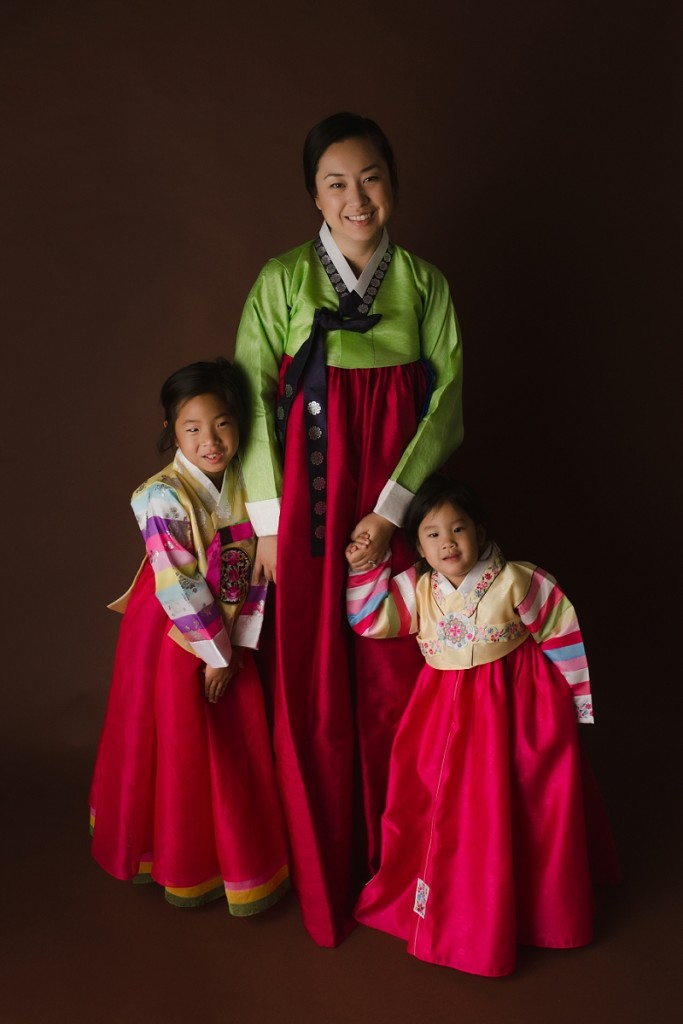 Traditional Korean Hanbok Portraits in Greenville SC Studio