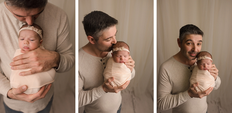 Daddy  and newborn pictures Greenville SC