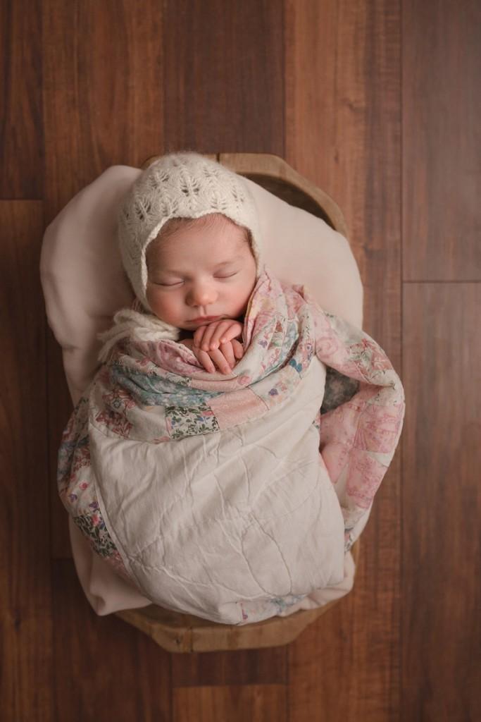 Newborn in a bowl picture Simpsonville SC