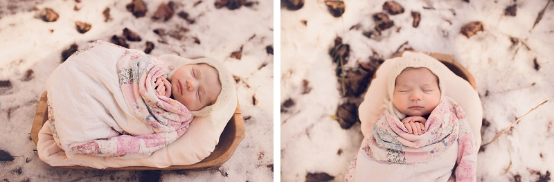 Snow Newborn Pictures Greenville SC