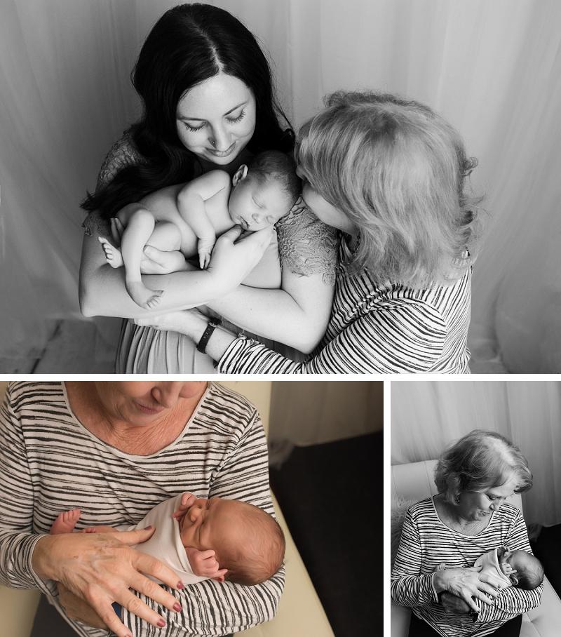 Grandma with newborn pictures in greenville sc