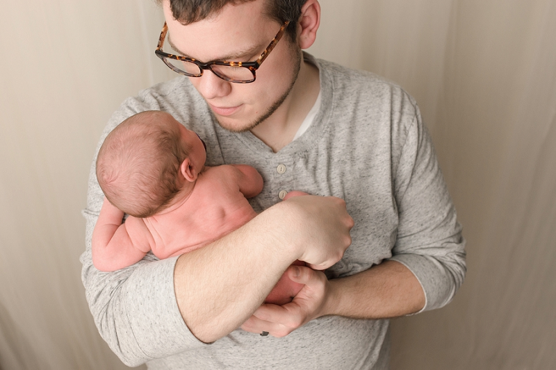 Simpsonville SC Daddy and Baby Newborn Photos