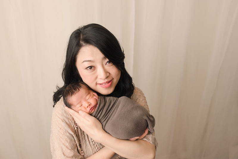 Mom and Baby Newborn Pictures Greer SC