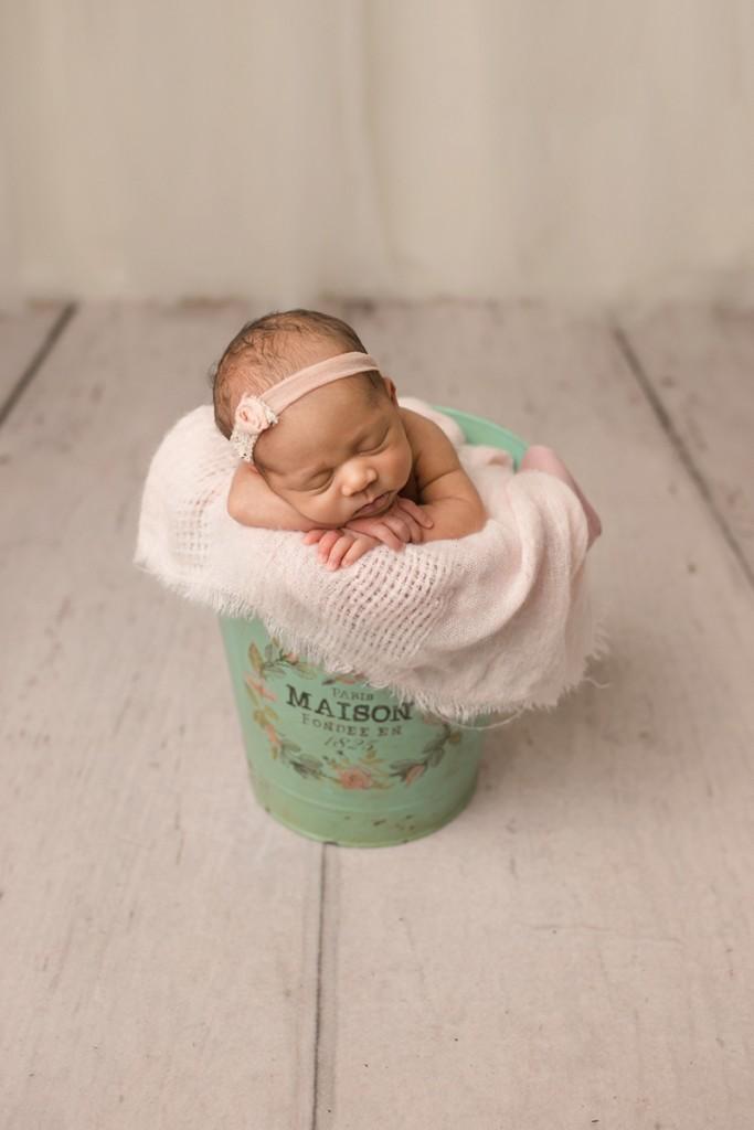 Newborn in a bucket Greer SC