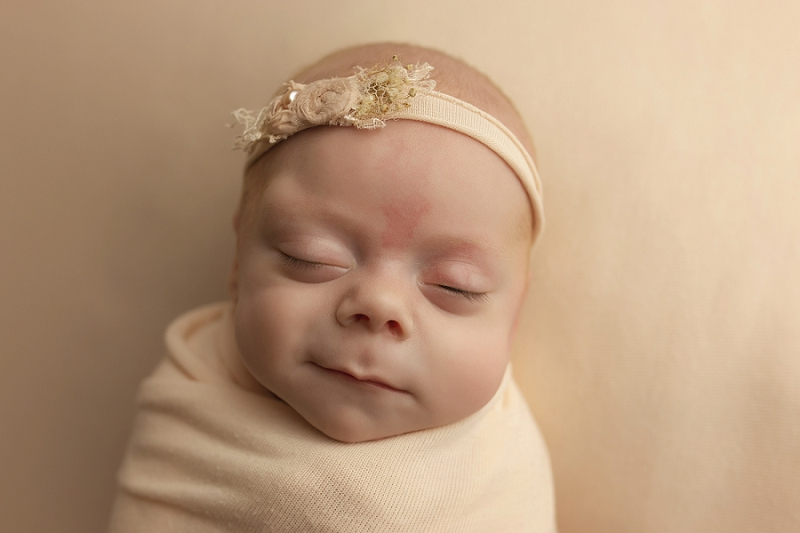 Simple Smiling Newborn Baby Pictures Greenville SC