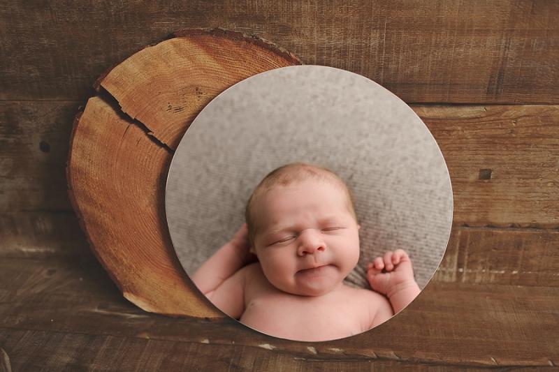 Timeless Newborn Photography Art Circle Print Greenville SC