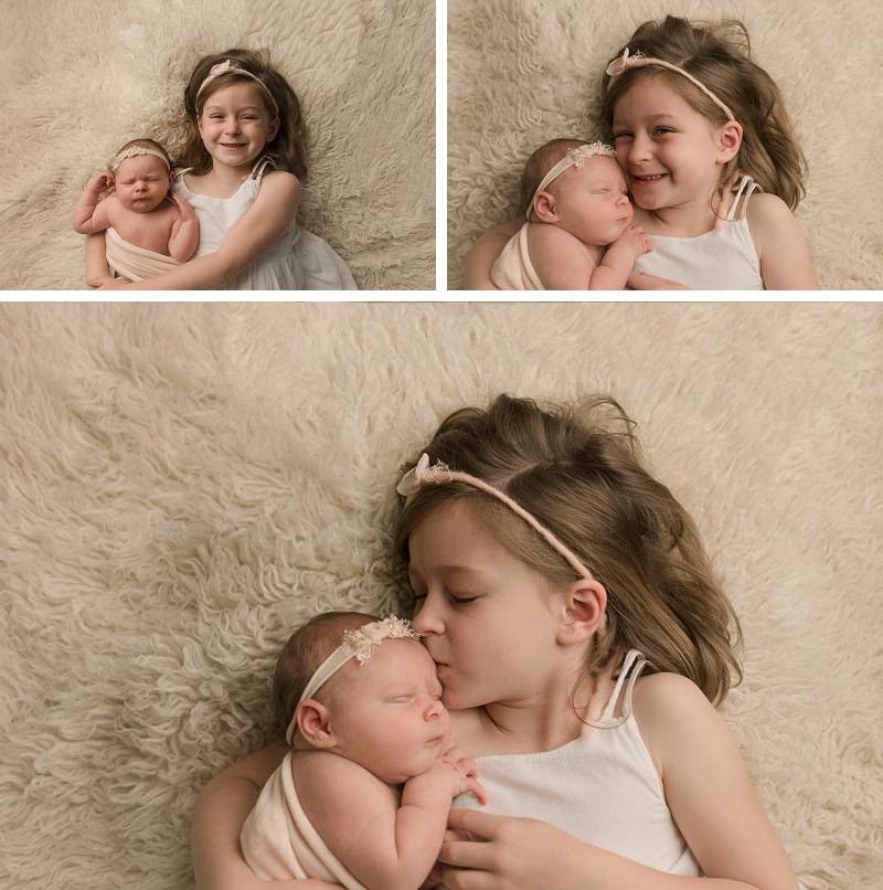 Emotional Sibling Pictures with Newborn Greenville SC