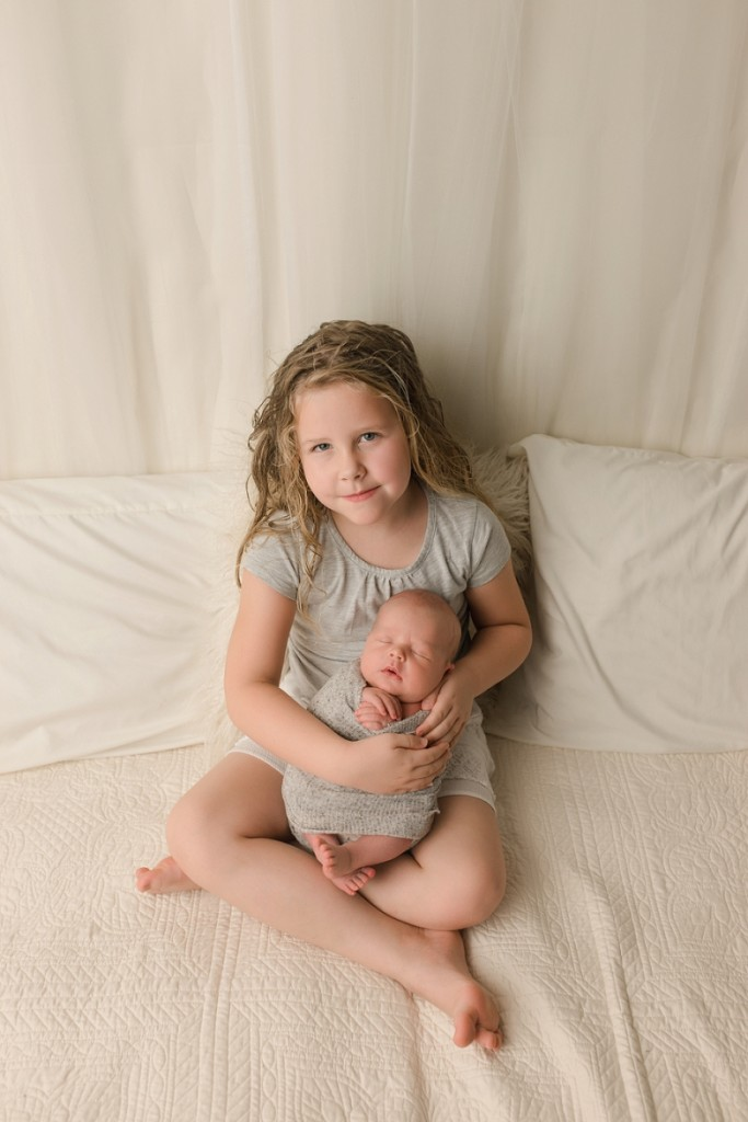 Greer SC Newborn Baby with Big Sister Portraits