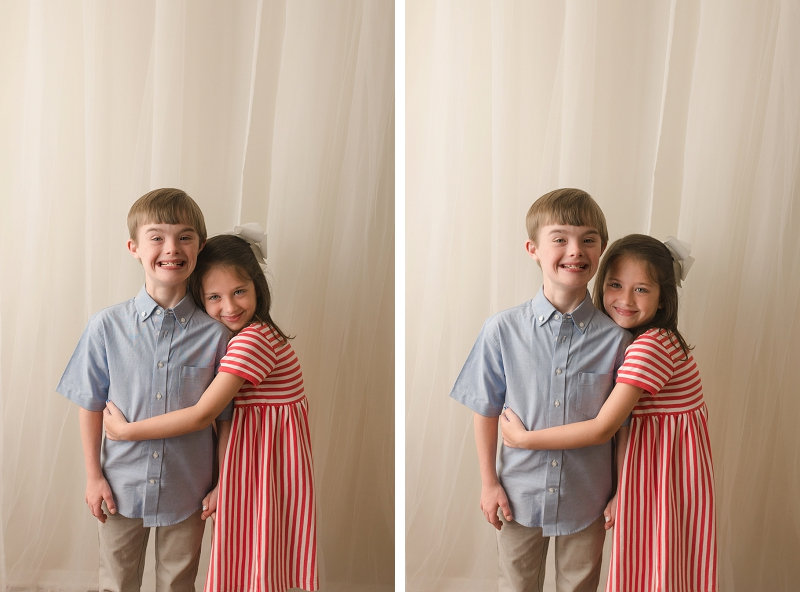 Sweet Sibling Pictures Simpsonville SC Studio Photographer