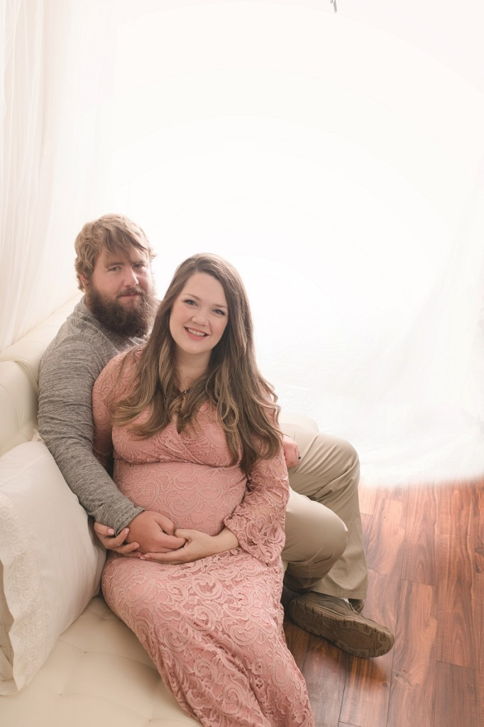 Dreamy Backlit Greenville SC Studio Maternity Photographer