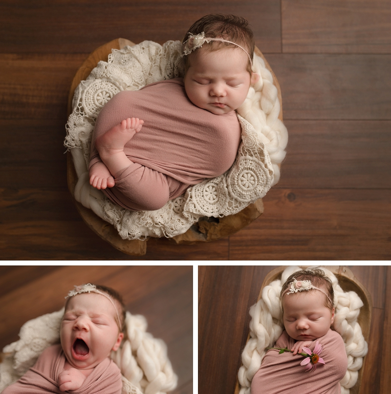 Girly Timeless Posed Newborn Photography Greer SC