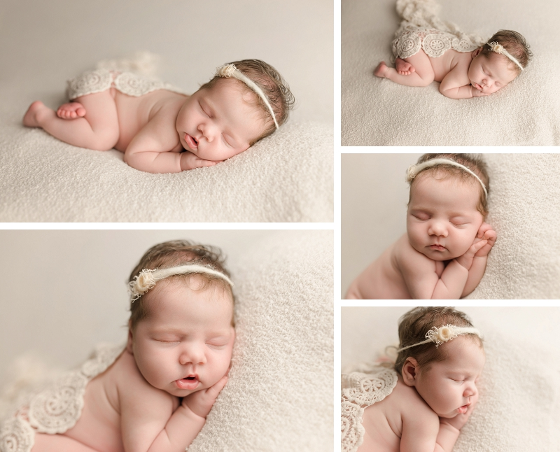 Girly Timeless Posed Newborn Photography Simpsonville SC