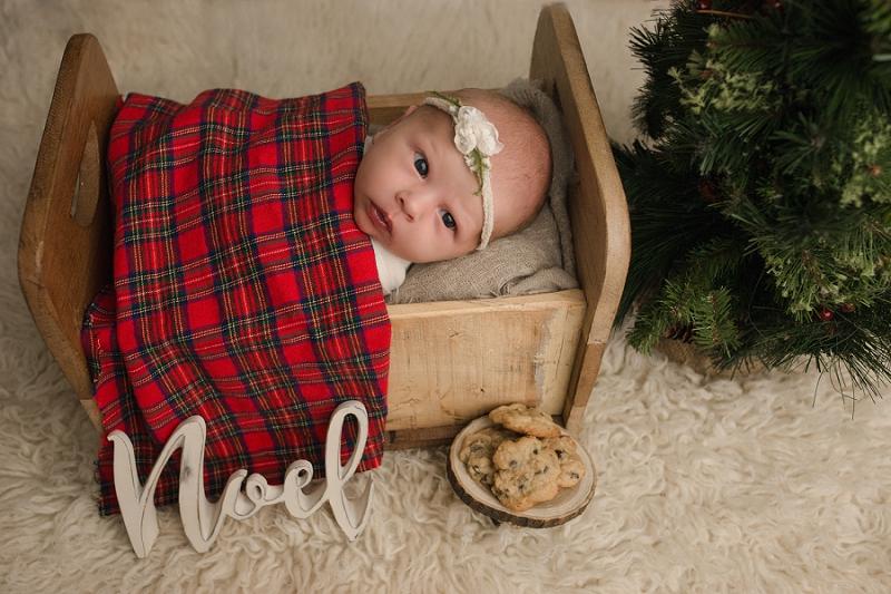 Christmas Themed Newborn Photos Greenville SC
