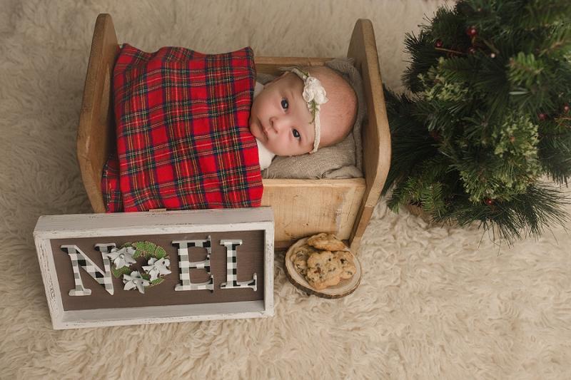Christmas Themed Newborn Photos Simpsonville SC
