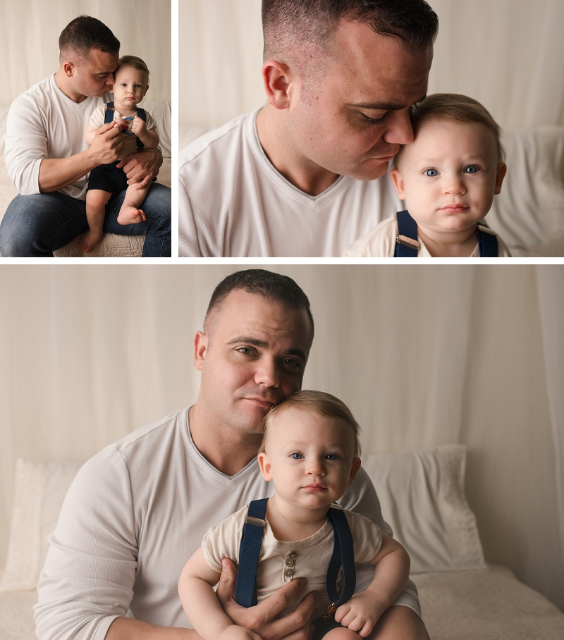 Daddy and One Year Old Pictures Greenville SC