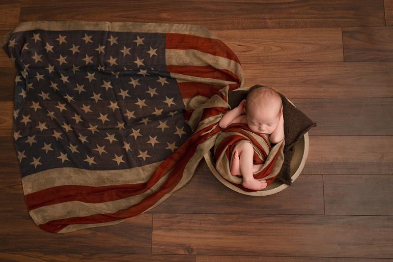 Greenville SC Patriotic Newborn Photography