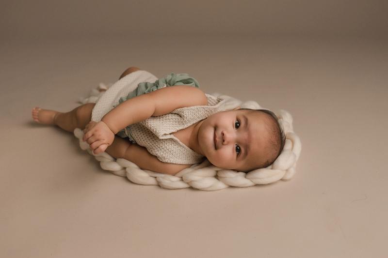 Organic Baby Girl Studio Photographer Greer SC