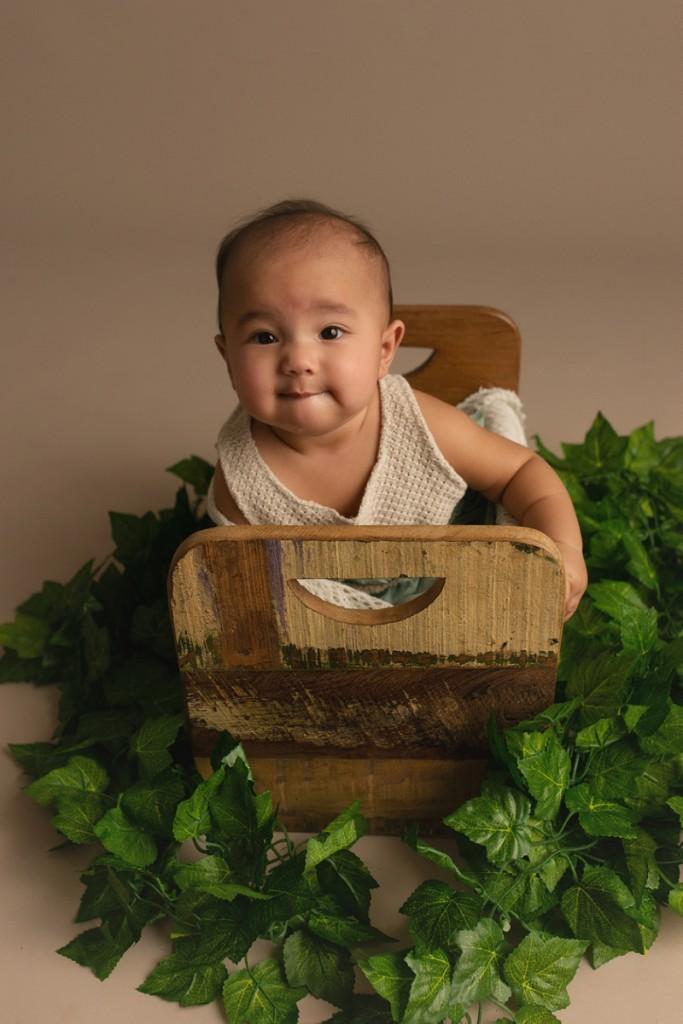 Organic Baby Girl Studio Photographer Mauldin SC