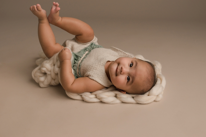 Organic Baby Girl Studio Photographer Simpsonville SC