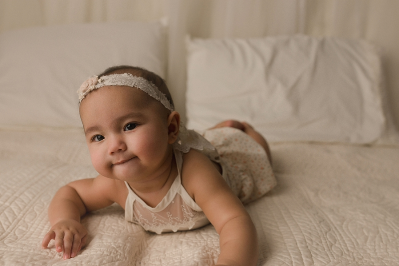 Six Month Studio Pictures Greenville SC Baby