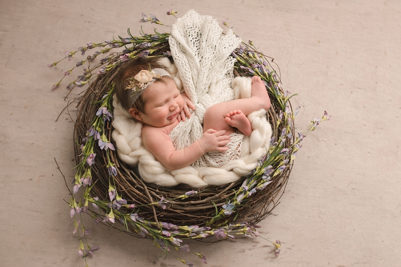 Stunning Minimalist Newborn Photos Greenville SC