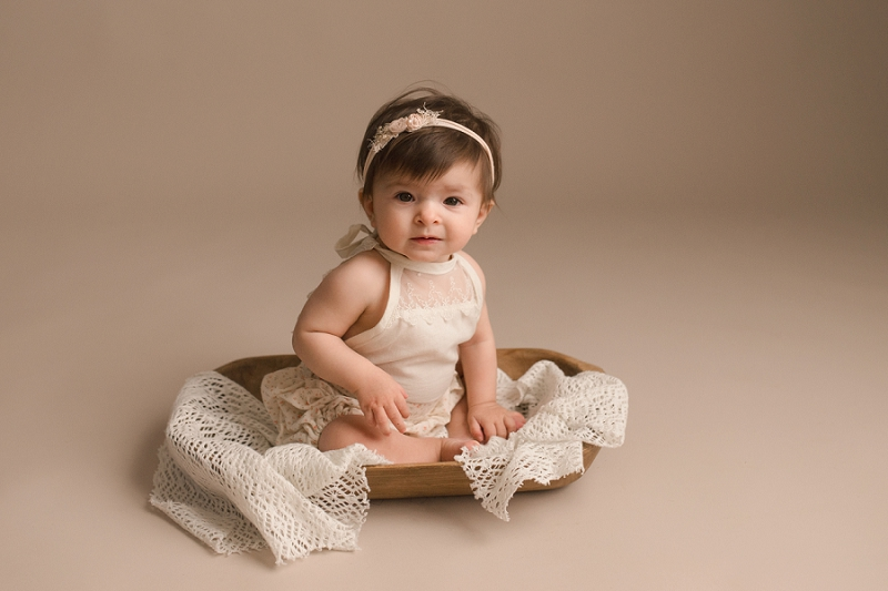 Timeless Sweet Six Month Baby Photos Simpsonville SC