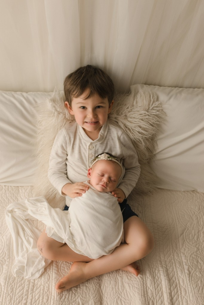 Newborn and Sibling Photography Greer SC