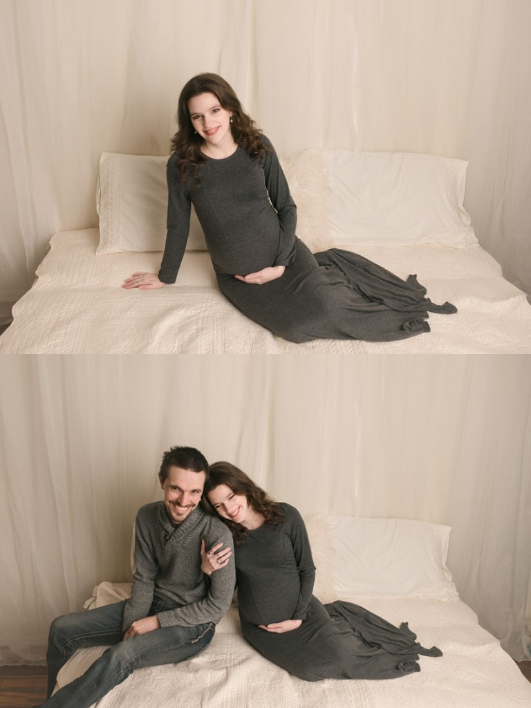 Simple Timeless Studio Maternity Photos Mauldin SC