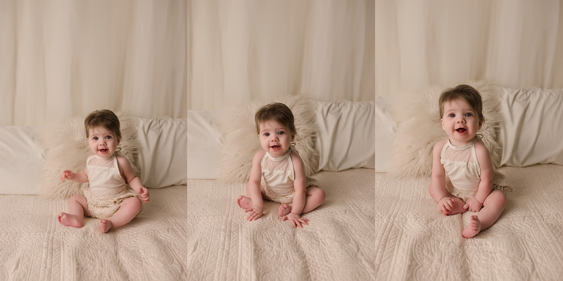 Natural Studio Sitting Milestone 6 month Pictures Mauldin SC