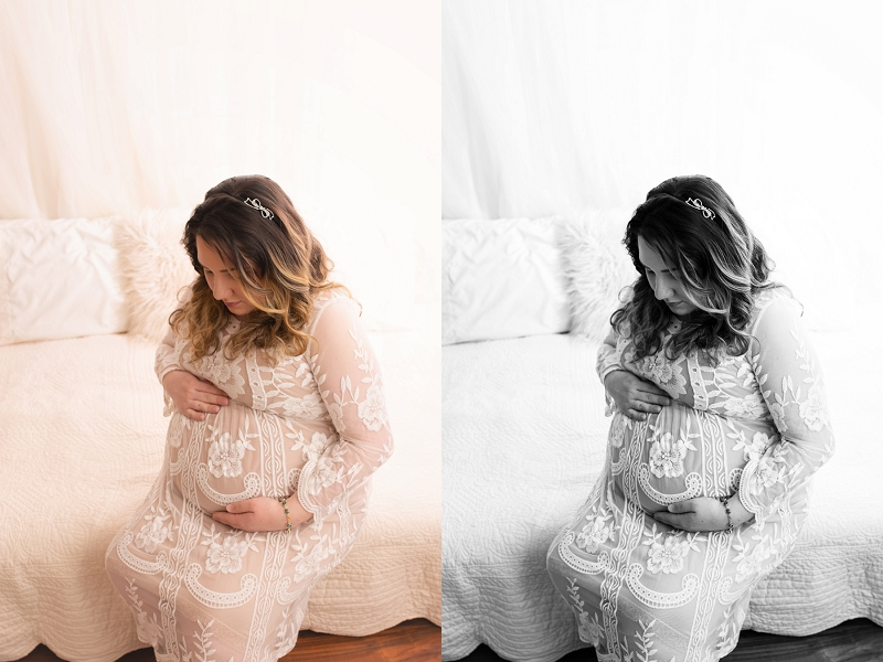 Simple Classic Studio Maternity Portraits Mauldin SC