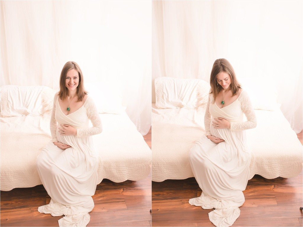 Classic Simple Studio Maternity Photos Greenville, SC