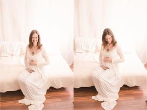 Classic Simple Studio Maternity Photos Greenville, SC