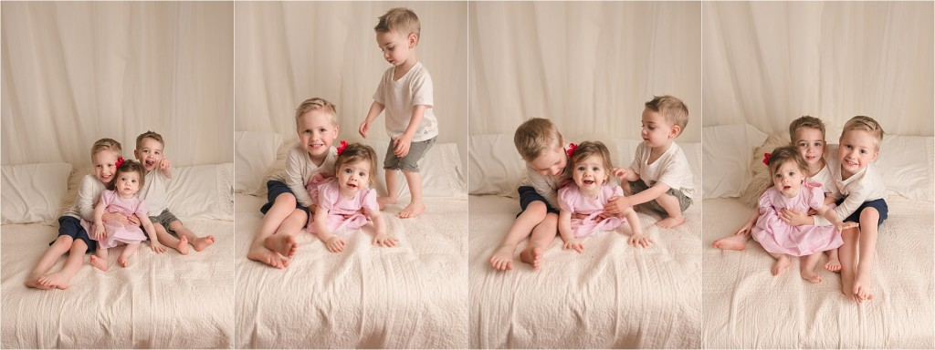 Timeless Natural Fun Studio Sibling Pictures Greenville SC