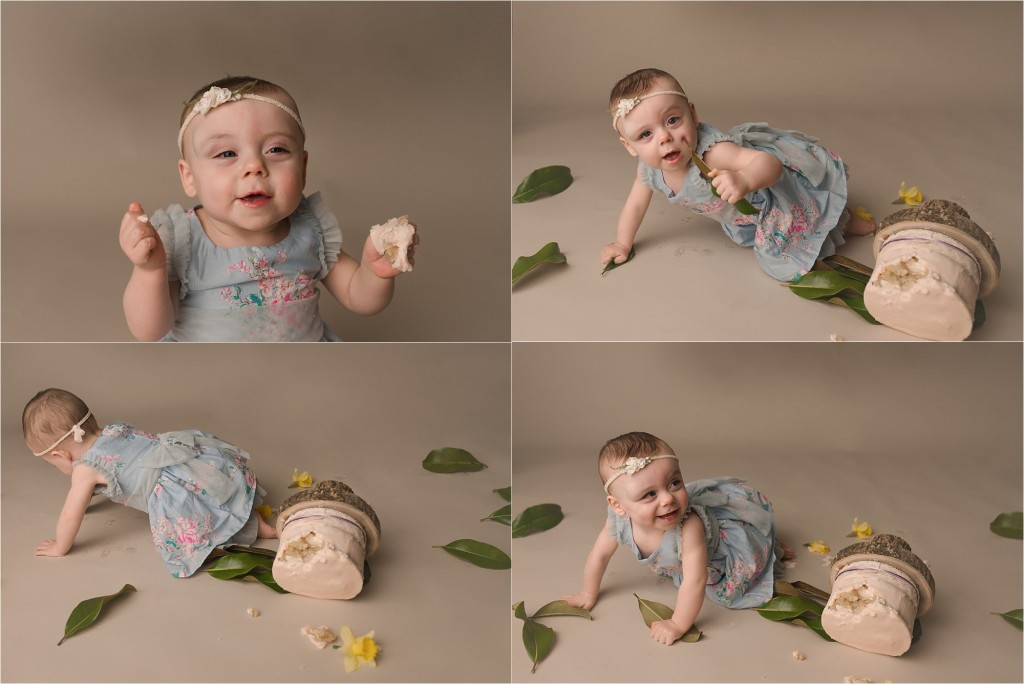 Simpsonville SC Cake Smash Photographer One Year Old