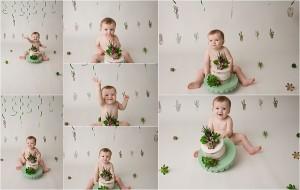 Greenville SC Simple Fun Studio Cake Smash Photography