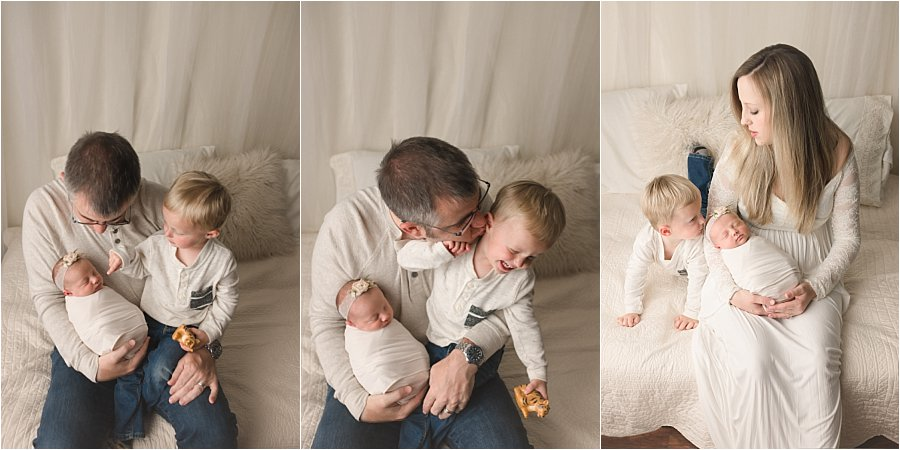 Simple Natural Emotive Simpsonville SC Newborn Photography with Sibling