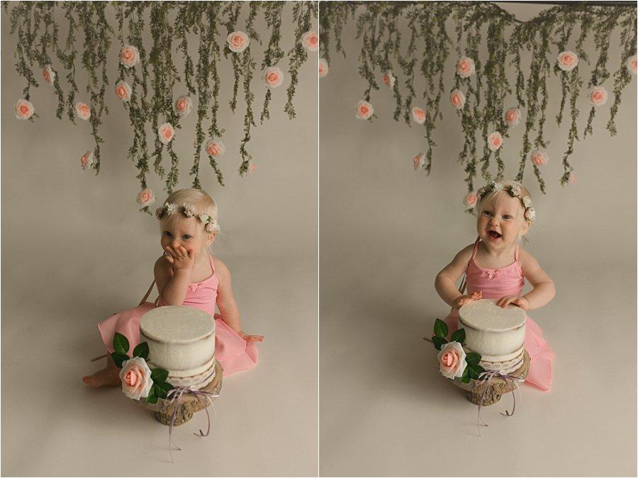 Boho Princess Cake Smash Photography Greenville SC