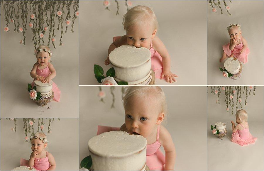 Boho Princess Cake Smash Photography Anderson SC