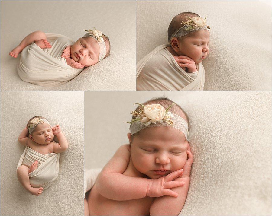 Natural Timeliess Simple Newborn Photographer Greenville SC