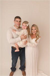 Creamy White Backdrop Simpsonville SC Studio Maternity Photography