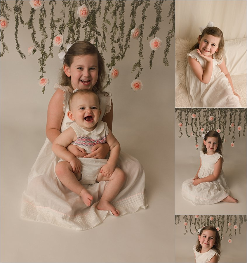 Simple Timeless One Year Cake Smash Photography Greer SC