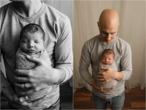 Simpsonville SC Newborn Boy Photos with daddy