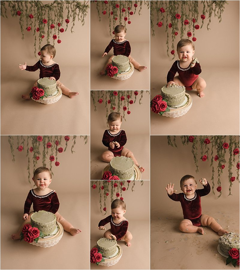 Fresh Timeless Emotional Cake Smash Photography Simpsonville SC