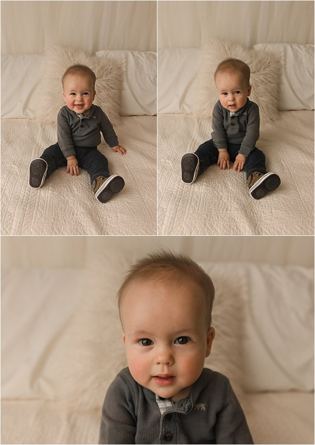 Timeless Simple Six Month Studio Baby Pictures Simpsonville SC