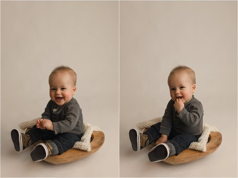 Timeless Simple Six Month Studio Baby Pictures Greenville SC