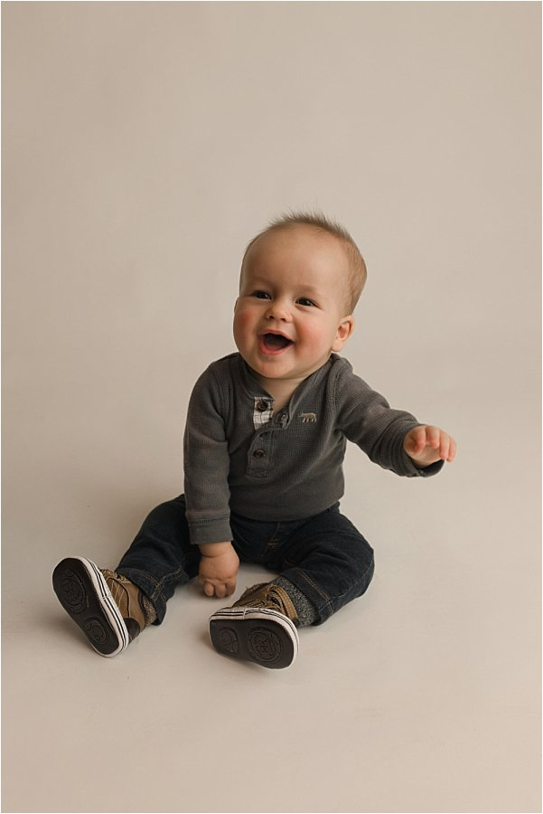 Timeless Simple Six Month Studio Baby Pictures Greer SC